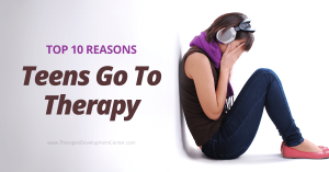 Top 10 Reasons Teens Go To Therapy, Distressed Teen
