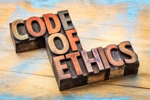 Answerand Rationale for FREE Practice Question on Social Media Postings, Code of ethics