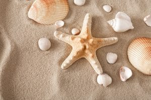 Therapy with sea shells and sand