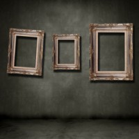 Three picture frames