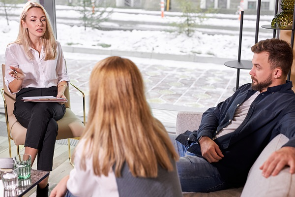 Social Worker Couples Therapy Session