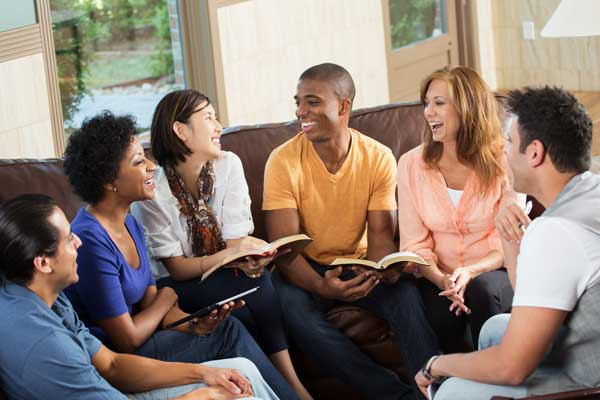 study group conversing about course material