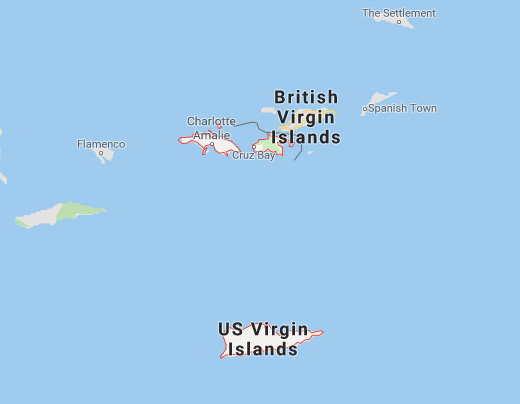 Map of the US Virgin Islands