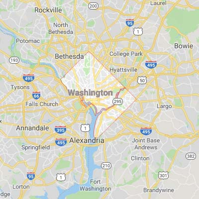 District of Colombia (Washington DC) map